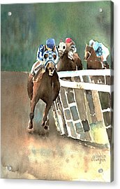 Into The Stretch And Headed For Home-secretariat Acrylic Print by Arline Wagner