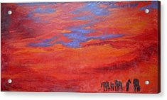 Into The Sunset Acrylic Print by Gabrielle England