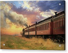 Acrylic Print featuring the mixed media Into The Sunset by Lori Deiter
