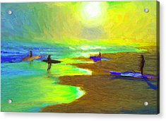 Into The Surf Acrylic Print