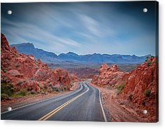 Into The Valley Of Fire Acrylic Print