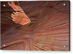 Into The Wave Acrylic Print by Mike  Dawson