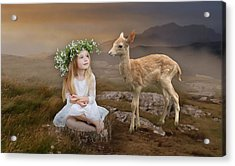 Acrylic Print featuring the mixed media Into The Wild by Marvin Blaine