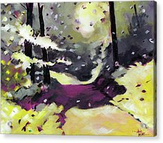 Acrylic Print featuring the painting Into The Woods 2 by Anil Nene