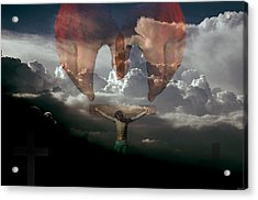 Into Thy Hands I Come Acrylic Print by Evelyn Patrick