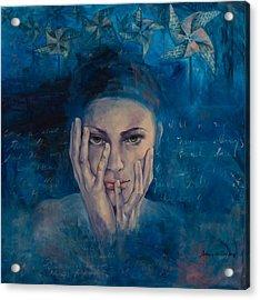 Introspection Acrylic Print by Dorina Costras