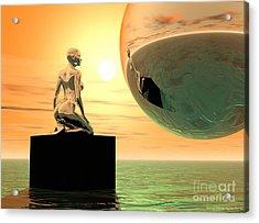 Introspection Acrylic Print by Sandra Bauser Digital Art