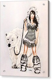 Inuit Pin-up Girl Acrylic Print