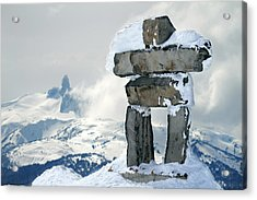 Inukchuk Whistler Acrylic Print by Pierre Leclerc Photography