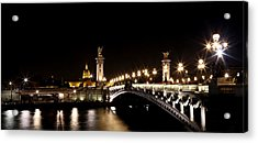Acrylic Print featuring the photograph Invalides At Night 1 by Andrew Fare