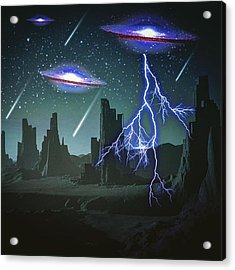 Invasion (for Scifi Fans) Acrylic Print