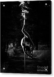 Inverted Pole Dance In Forest Acrylic Print