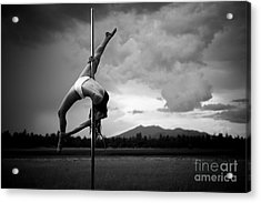 Inverted Splits Pole Dance Acrylic Print