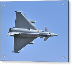 Inverted Typhoon In The Welsh Hills Acrylic Print by Barry Culling