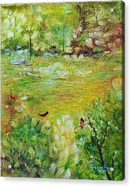 Acrylic Print featuring the painting Invincible Spring by Judith Rhue