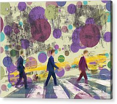 Invisible Men With Balloons Acrylic Print