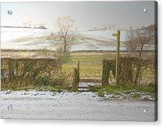 Invitation To A Winter Walk Acrylic Print by Aleck Rich Seddon