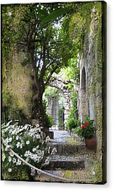 Inviting Courtyard Acrylic Print by Carla Parris