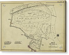 Acrylic Print featuring the photograph Inwood Hill Park 1950's Map by Cole Thompson