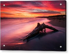 Iona Beach Sunset Acrylic Print