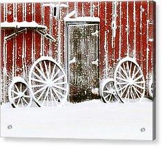 Iowa Blizzard Acrylic Print