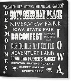 Iowa Famous Landmarks Acrylic Print