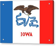 Iowa State Flag Acrylic Print by American School