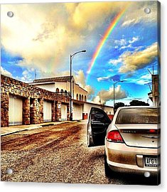#iphone # Rainbow Acrylic Print by Estefania Leon