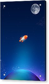 iPhone Case Acrylic Print by Liliia Mandrino