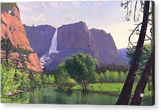 iPhone - Galaxy Cellphone Case - Mountain Waterfall Stream Acrylic Print by Walt Curlee