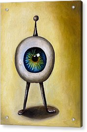 Ira The Little Alien Acrylic Print by Leah Saulnier The Painting Maniac