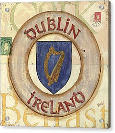 Ireland Coat Of Arms Acrylic Print by Debbie DeWitt