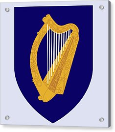 Ireland Coat Of Arms Acrylic Print by Movie Poster Prints