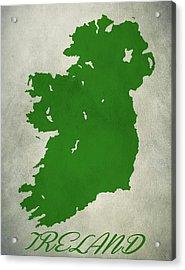 Ireland Grunge Map Acrylic Print