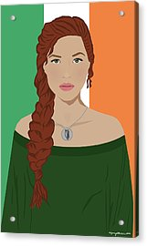 Acrylic Print featuring the digital art Ireland by Nancy Levan