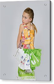 Irene In Tea Bags Shirt And Banners Skirt Acrylic Print