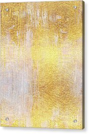 Iridescent Abstract Non Objective Golden Painting Acrylic Print