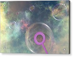 Iridescent Meandering Acrylic Print