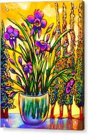 Iris Acrylic Print by Angelina Marino