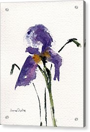 Acrylic Print featuring the painting Iris  by Anne Duke