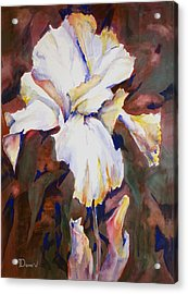 Iris Acrylic Print by Bob Duncan