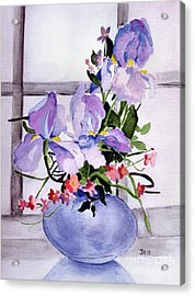 Iris Bouquet Acrylic Print by Ann Gordon