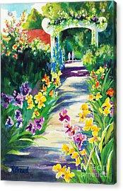 Iris Garden Walkway   Acrylic Print