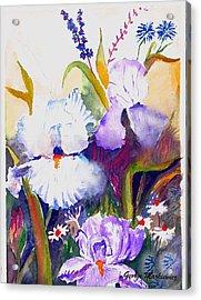 Iris Acrylic Print by George Markiewicz