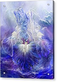 Acrylic Print featuring the mixed media Iris - Goddess Of The Sea by Carol Cavalaris
