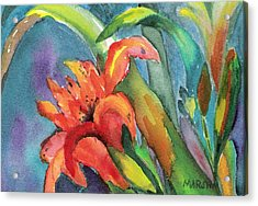 Iris Growing Wild Acrylic Print