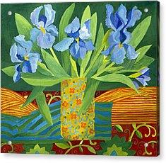Iris Acrylic Print by Jennifer Abbot
