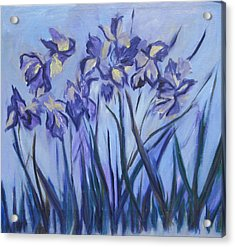 Iris Painting Two Acrylic Print by Betty Pieper