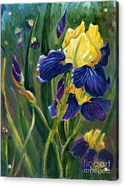Acrylic Print featuring the painting Iris by Renate Nadi Wesley