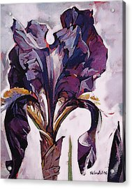 Acrylic Print featuring the painting Iris Spring by Tim  Heimdal